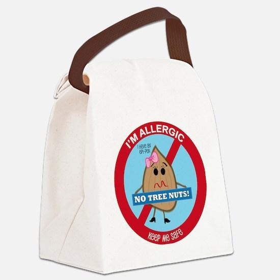 Tree Nut Allergy - Girl Canvas Lunch Bag