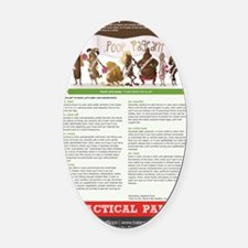 Poop Pageant Oval Car Magnet
