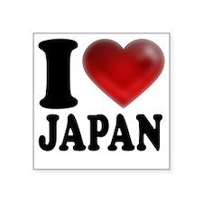 "I Heart Japan Square Sticker 3"" x 3"""
