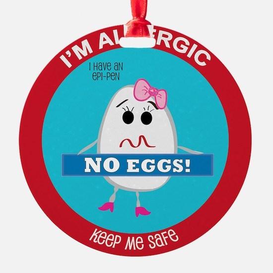 Egg Allergy - Girl Ornament