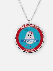 Egg Allergy - Girl Necklace
