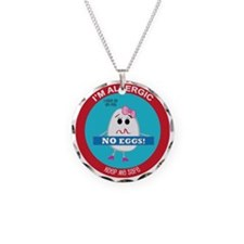 Egg Allergy - Girl Necklace Circle Charm