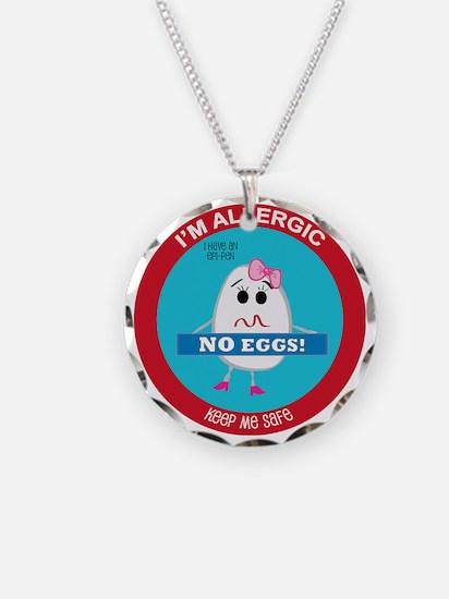 Egg Allergy - Girl Necklace Circle Charm