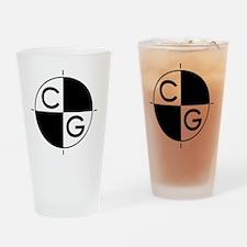 CenterGravity_black Drinking Glass