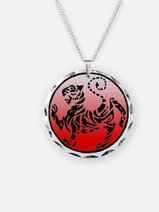 shotokan - black tiger on re Necklace