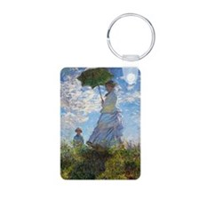 Woman with a Parasol Aluminum Photo Keychain