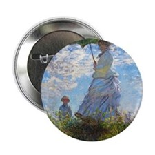 """Woman with a Parasol 2.25"""" Button"""