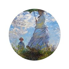 """Woman with a Parasol 3.5"""" Button"""