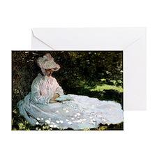 Claude Monet Woman Reading Greeting Card