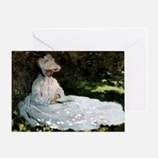Claude Monet Woman Reading Greeting Card