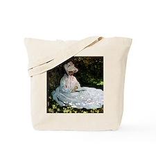 Claude Monet Woman Reading Tote Bag