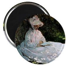 Claude Monet Woman Reading Magnet