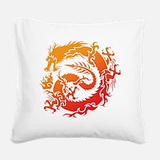 Tr-dragon Square Canvas Pillow