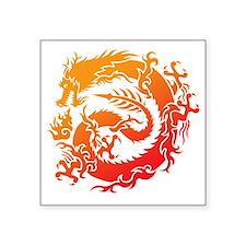 """Tr-dragon Square Sticker 3"""" x 3"""""""