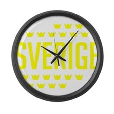 Sveriges kronor Large Wall Clock