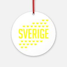 Sveriges kronor Round Ornament