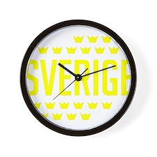 Sveriges kronor Wall Clock