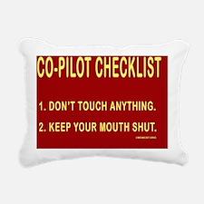 CoPilotCalendarPrint Rectangular Canvas Pillow