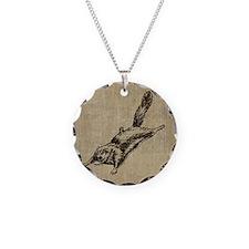 Vintage Squirrel Glider Necklace