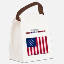 I support Allied state of America Canvas Lunch Bag