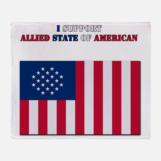 I support Allied state of American Throw Blanket