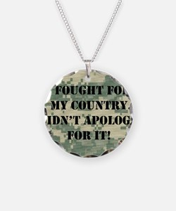 I Fought For My Country I Di Necklace Circle Charm