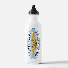 Wings12x5OvalSideTRANS Water Bottle