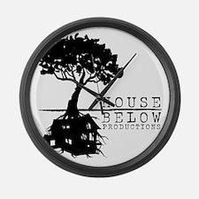 House Below Logo Large Wall Clock