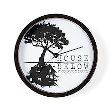 House Below Logo Wall Clock