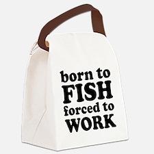 fishBornTo1A Canvas Lunch Bag