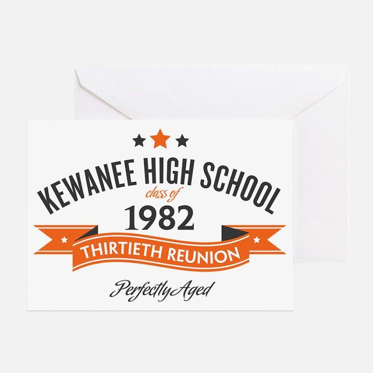 Kewanee High School - 30th Class Reu Greeting Card