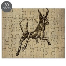 Vintage Running Stag Puzzle