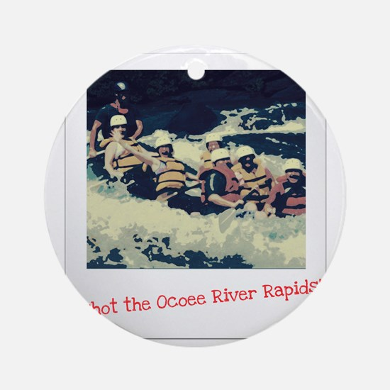 Ocoee River Rapids Round Ornament