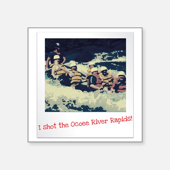 "Ocoee River Rapids Square Sticker 3"" x 3"""