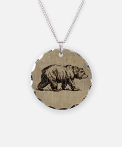 Vintage Bear Necklace