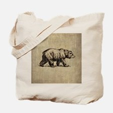 Vintage Bear Tote Bag