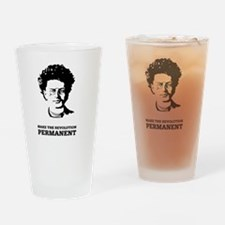 Leon Trotsky: Permanent Revolution Drinking Glass