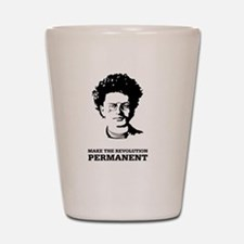 Leon Trotsky: Permanent Revolution Shot Glass