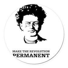 Leon Trotsky: Permanent Revolutio Round Car Magnet