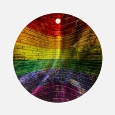 LGBT Round Ornament