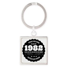 Kewanee High School - 30th Class R Square Keychain
