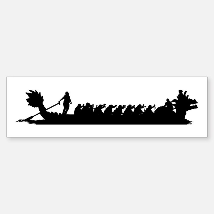Dragon Boat Bumper Bumper Bumper Sticker