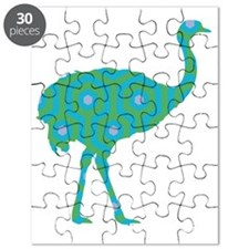 Ostrich Turquoise Hicks Puzzle