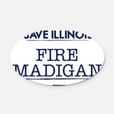 Fire Madigan Oval Car Magnet