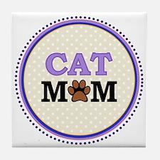 Cat Mom Tile Coaster