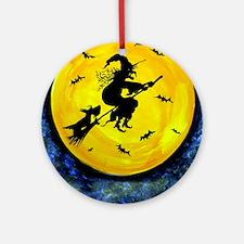 Scottie Moon  Halloween Witch Round Ornament