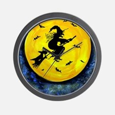 Scottie Moon  Halloween Witch Wall Clock