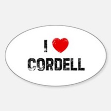 I * Cordell Oval Decal