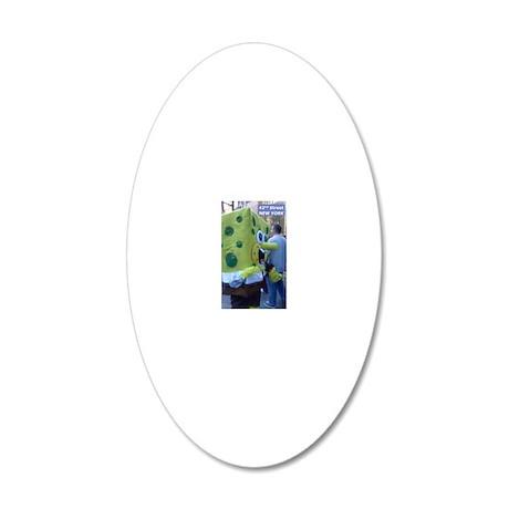42nd St. Spongebob 20x12 Oval Wall Decal