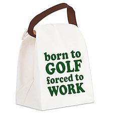 golfBornTo1D Canvas Lunch Bag